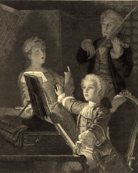 Несколько интересных историй из детства Моцарта.