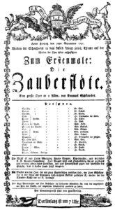 """30 сентября. Премьера оперы-зингшпиля Вольфганга Амадея Моцарта """"Волшебная флейта""""."""